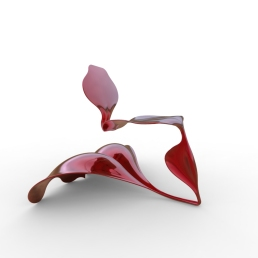 Serpent and Swan Chair (double wave base).462