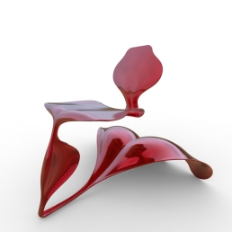 Serpent and Swan Chair (double wave base).470
