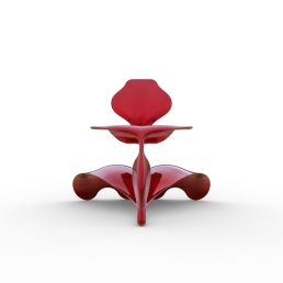 Serpent and Swan Chair (double wave base).476