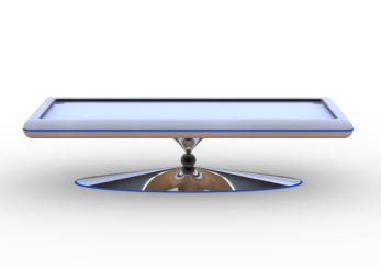 Neon Leatherette Pool Table (white and electric blue).329