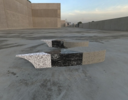 Dragon Wing 3 - black with marble and cement (plaza seating).454