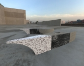 Dragon Wing 3 - black with marble and cement (plaza seating).462