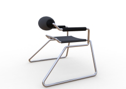 Spider Chair (chrome plate with grey - black).291