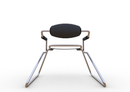 Spider Chair (chrome plate with grey - black).293