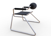 Spider Chair (chrome plate with grey - black).295