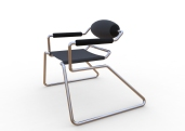 Spider Chair (chrome plate with grey - black).297