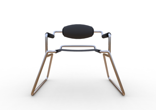 Spider Chair (chrome plate with grey - black).298
