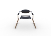 Spider Chair (chrome plate with grey - black).299