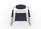 Spider Chair (chrome plate with grey - black).300