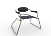 Spider Chair (chrome plate with grey - black).301