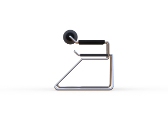 Spider Chair (chrome plate with grey - black).306