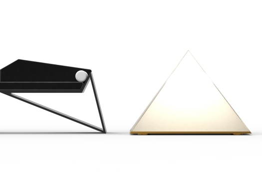 Bat Couch with Pyramid Floor Lamps.32